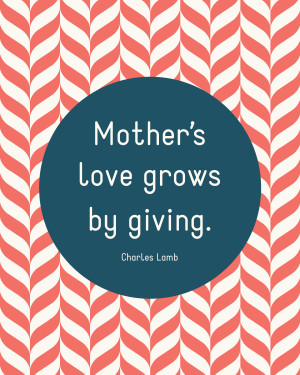 It's nearly Mother's Day! In honor of all the mothers out there ...