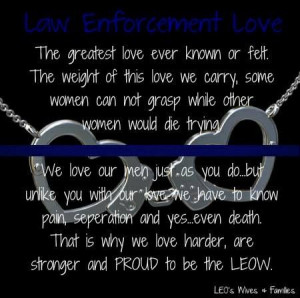 Law Enforcement Love Designed by Michelle Schwitters LEO's Wives ...