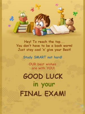 Good Luck in Final Exam Quotes About Exams