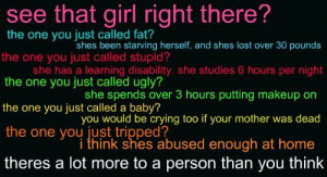 anti-bullying, baby, bullying, crying, fat, girl, more to a person ...