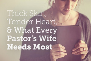 think whether you are a pastor's wife or not we would all be wise to ...