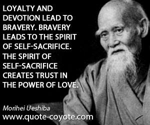 ... self-sacrifice. The spirit of self-sacrifice creates trust in the