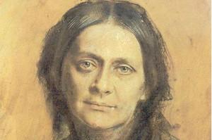 Clara Schumann auf einem Bild von Franz von Lenbach