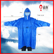 waterproof riding hooded cycle rubber rain cape