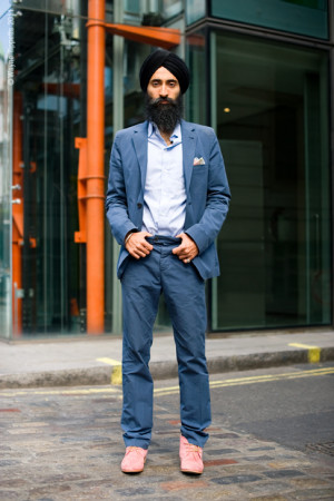 urbanemenswear:We love seeing Waris Ahluwalia wearing spring colors ...