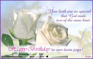 Back > Pics For > Happy Birthday Twins Cards