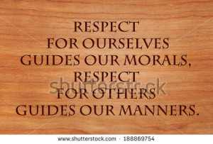 ... manners - quote by Laurence Sterne on wooden red oak background