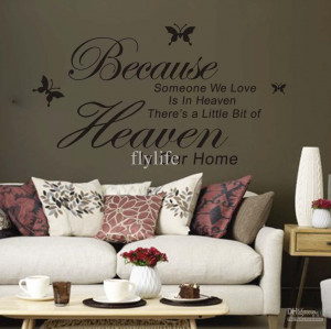 We Love Is in Heaven Vinyl Wall Lettering Stickers Quotes and Sayings ...