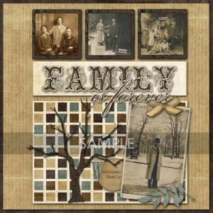 Digital Genealogy Scrapbooking Kits