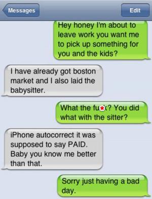 Laid The Babysitter – Autocorrect