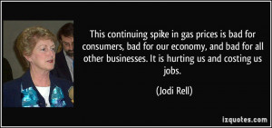 spike in gas prices is bad for consumers, bad for our economy, and bad ...