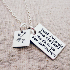 Best Friends are Like Sisters Gift Necklace