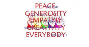peace generosity empathy everybody photo ...