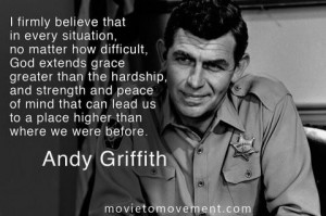 andy griffith; a very good old tv show
