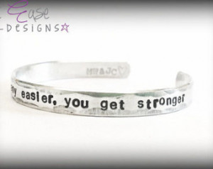 You Get Stronger. Military quote. d eployment bracelet. usmc army navy ...