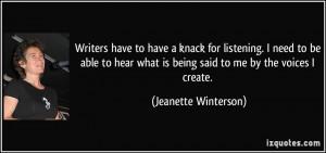 More Jeanette Winterson Quotes