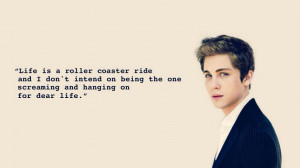 logan lerman inspirational quote again...