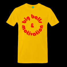 yellow big balls t shirts designed by bossc