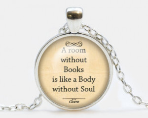 ... Cicero Quote Pendant. Quote Books Necklace. Quote jewelry. Birthday