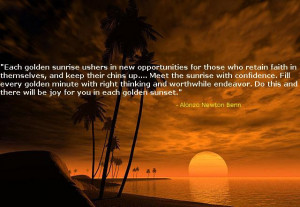 Inspiring Ocean Sunset and Sunsets Quote