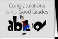 Congratulations Good Grades - humor abc kicking bad grades card ...