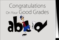 Congratulations Good Grades - humor abc kicking bad grades card ...