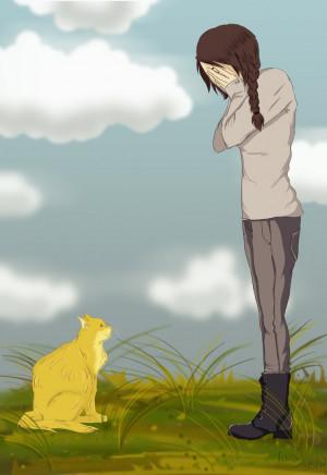 Mockingjay: Katniss and Buttercup by Nymstark