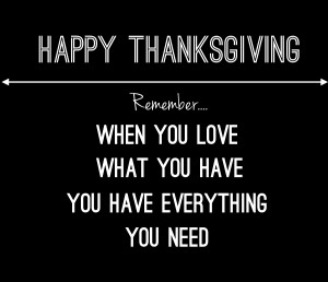 Happy Thanksgiving | Being Thankful Quote