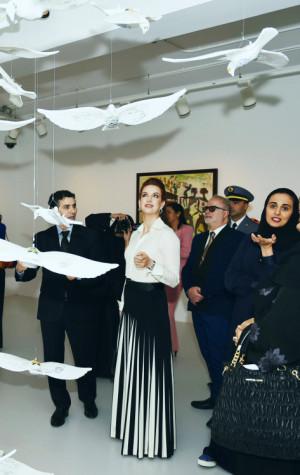 ... Al-Mayassa bint Hamad bin Khalifa Al-Thani was also there and can be
