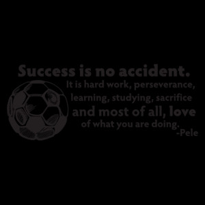 Success Is No Accident Soccer Ball Wall Quotes™ Decal