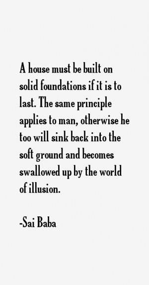 house must be built on solid foundations if it is to last. The same ...