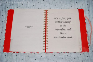 Every month page has its own quote. I am a quote addict and love ...