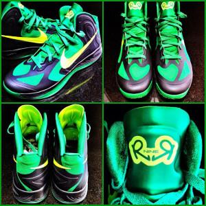 Nike Zoom Hyperfuse 2012 Rajon Rondo PE Black Green Volt