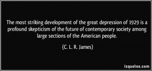 The most striking development of the great depression of 1929 is a ...
