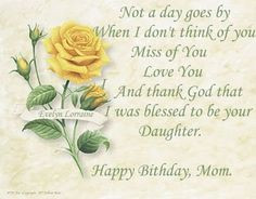 happy birthday to mother in heaven quotes | That Fallen' Angel: Happy ...