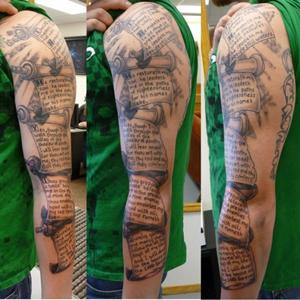 Groovy Collection Of Great Scripture Tattoos Ideas Pelfind
