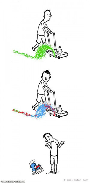 Mowing The Lawn | Funny Pictures and Quotes