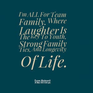 Family Make Eachother Stronger. By Laughing Together. That's How ...