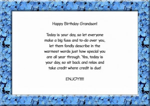 Grandson Birthday Card Quotes