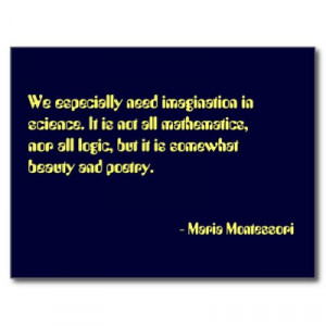One in a series of Maria Montessori quotation postcards.