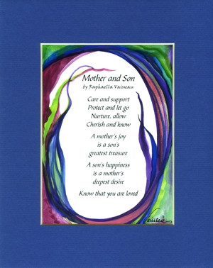 Mother and Son original quote (8x10) - Heartful Art by Raphaella ...