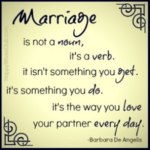 Marriage is Not a Noun