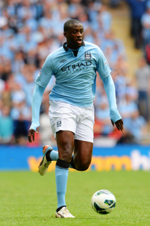 Yaya Toure Yaya Toure of Manchester City with the ball during the FA