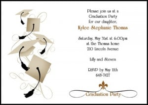customize your graduation party invites by adding graduating photo or ...