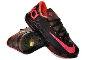 """Girls Nike KD 6 GS """"Meteorology"""" Black/Atomic Red-Medium Olive ..."""