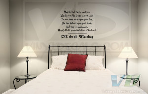 Old Irish Blessing Vinyl Wall Decal
