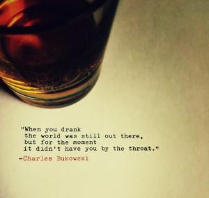 ... whiskey fonts Charles Bukowski misanthropy bourbon submission sunday
