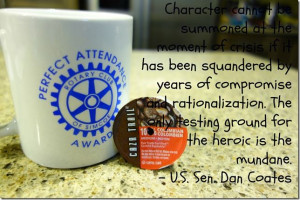 Character, Dan Coates, and Caza Trail Fair Trade Kcups