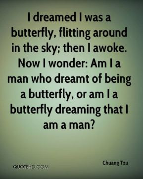 of being a butterfly, or am I a butterfly dreaming that I am a man