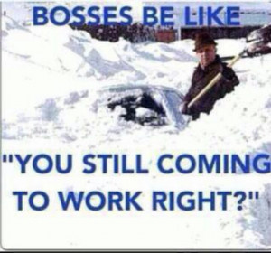 Snarky Me #bosses #snow storm #work #shoveling #funny